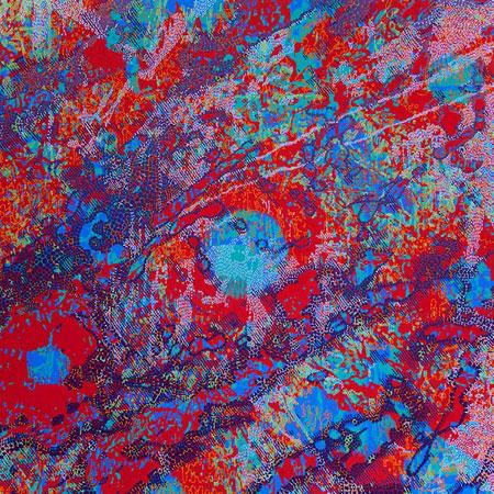 "Matrix 8,  acrylic on panel, 24"" x 24"", sold"