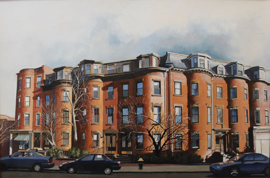 "Columbus and Yarmouth,   oil on paper, 21¼"" x 31¼"", sold"