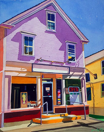 """Portuguese Bakery #3,  watercolor on paper, 22"""" x 18"""", $1,600"""