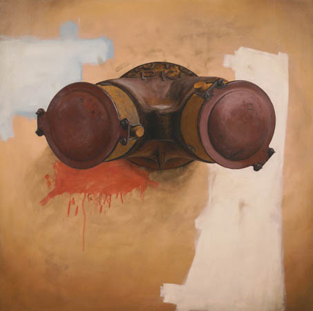 "Siamese #3,  oil on MDF panel, 24¾"" x 24¾"",  $3,000"