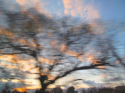 """Train View 2, between NY and Baltimore,  archival photograph on washi paper, 16"""" x 20"""",  $200"""