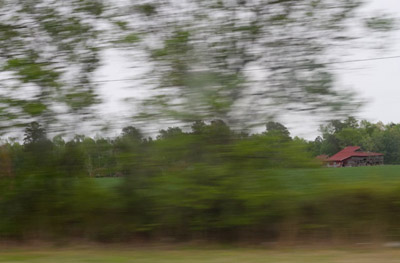 """Road View, Near Rocky Mount, NC,  archival photograph on washi paper, 18"""" x 20"""",  $200"""
