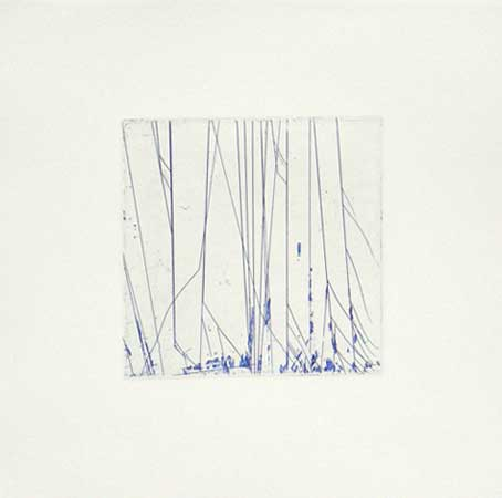 "Blue Faceted Spectrum,   intaglio print, 8"" x 8""   $150"