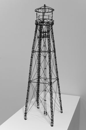 """Drink,  painted steel wire, 31"""" x 8½"""" x 8½"""", sold"""