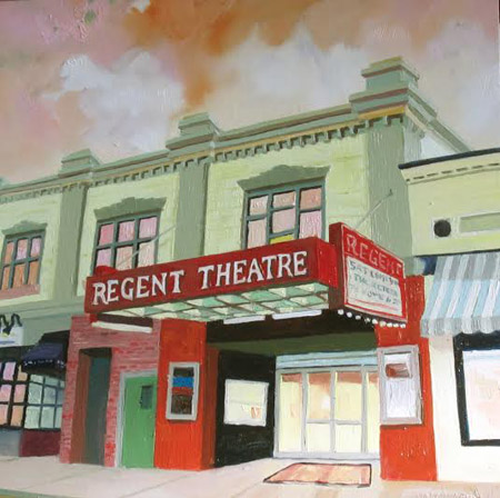 "The Regent , Daisy Adams, oil on panel, 10"" x 10"" framed, $350"