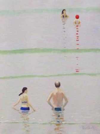 """Pair , Rob Diebboll, oil on linen, 17½"""" x 13½"""", $900"""