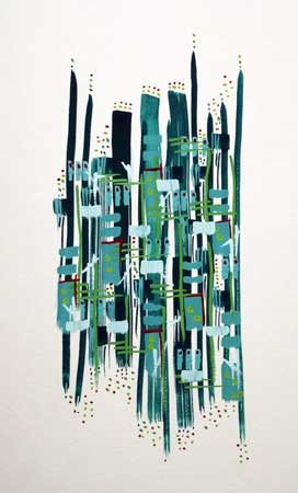 """Ship Street , Lauren Drake, gouache on paper, 20¼"""" x 16¼"""" framed, $300"""