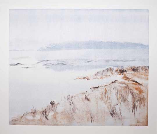 "Fog, Winter Marsh , Barbara Nachmias-Kedesdy, monotype, 18¼"" x 21¾"" framed, $425"