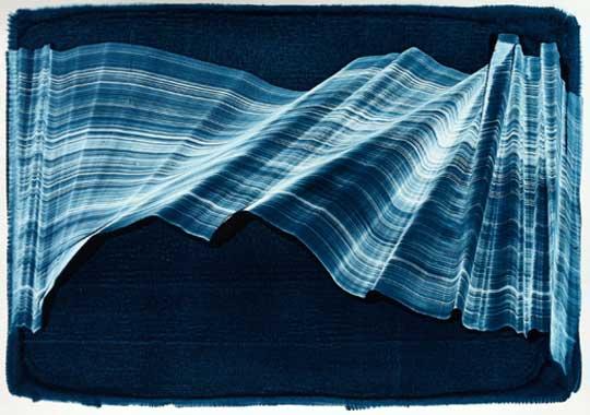 """Float , Kristin Breiseth, gelatin plate monotype, 17¼"""" x 21¼"""" framed, $350"""