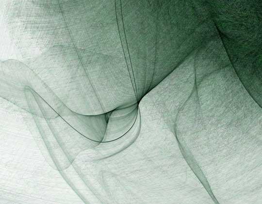 "Loop Study , Mark J. Stock, computational digital print, 16"" x 19"" framed, $275"