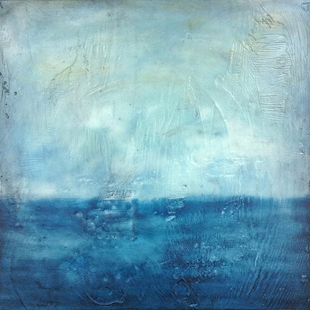"Endless,   encaustic on board, 12"" x 12"" framed ,  sold"