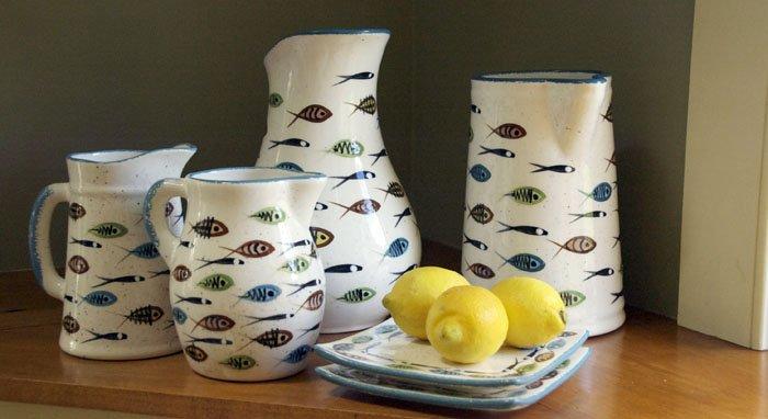 Multifish pitchers,ceramic