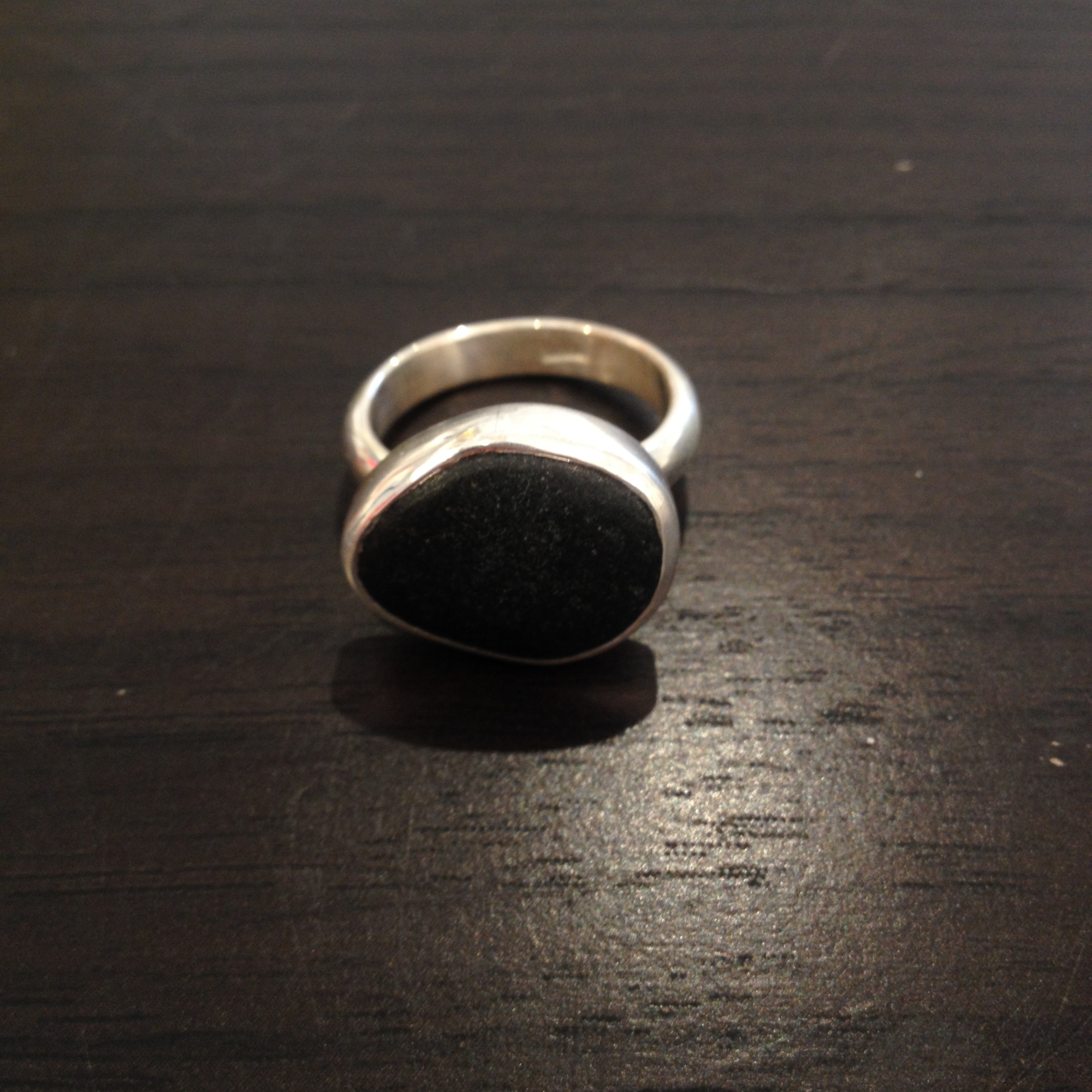 Beach stone ring,   beach stone, sterling silver, $75