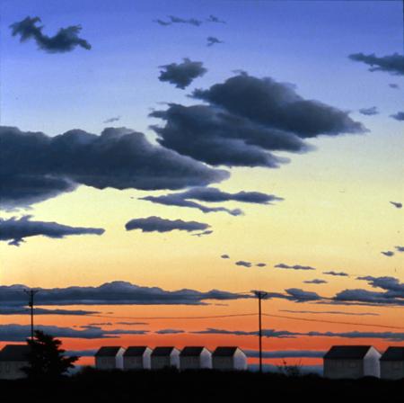 """The Quiet Season,  oil on cradled panel, 24"""" x 24"""" x 2"""""""