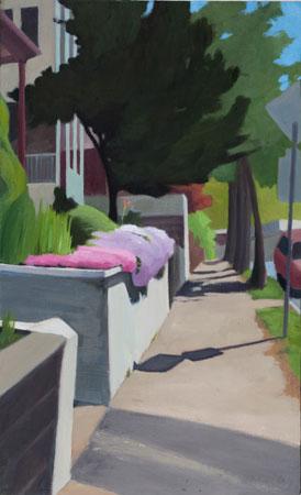 """Linwood Street,  oil on panel, 18"""" x 11""""  $800"""