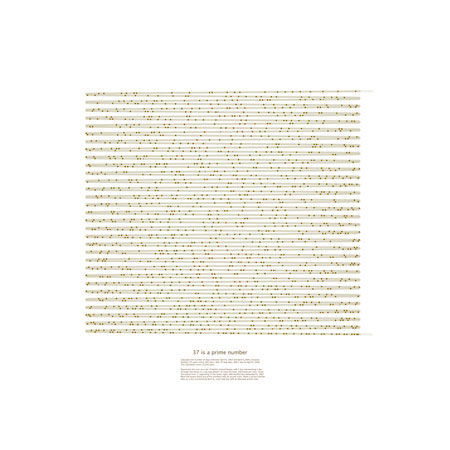 """37 is a Prime Number,  Giclee Print of Digital Drawing, 20"""" x 20"""" framed  $700"""