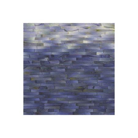 """Color Bands, Delphinium (No.1),  Delphinium Petals on Painted Panel, 6"""" x 6"""" $400"""