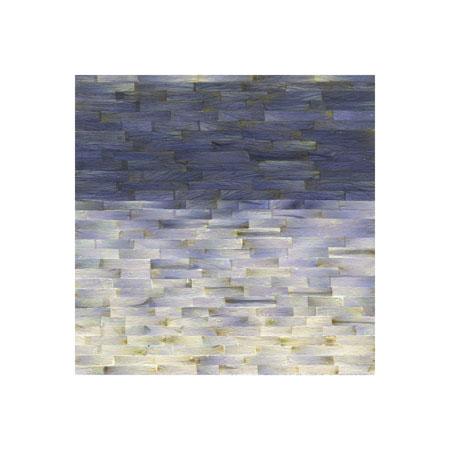"""Color Bands, Delphinium (No.2),  Delphinium Petals on Painted Panel, 6"""" x 6""""  $400"""