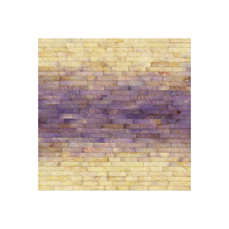 "Color Bands, Hydrangea (No.2),  Hydrangea Petals on Painted Panel, 6"" x 6""  $400"