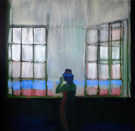"""Window,  oil on canvas, 36"""" x 36"""""""