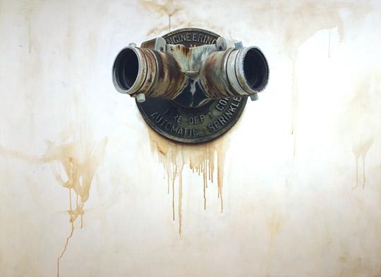 "Siamese #1,  oil on MDF panel, 36"" x 49"" framed,$5,000"