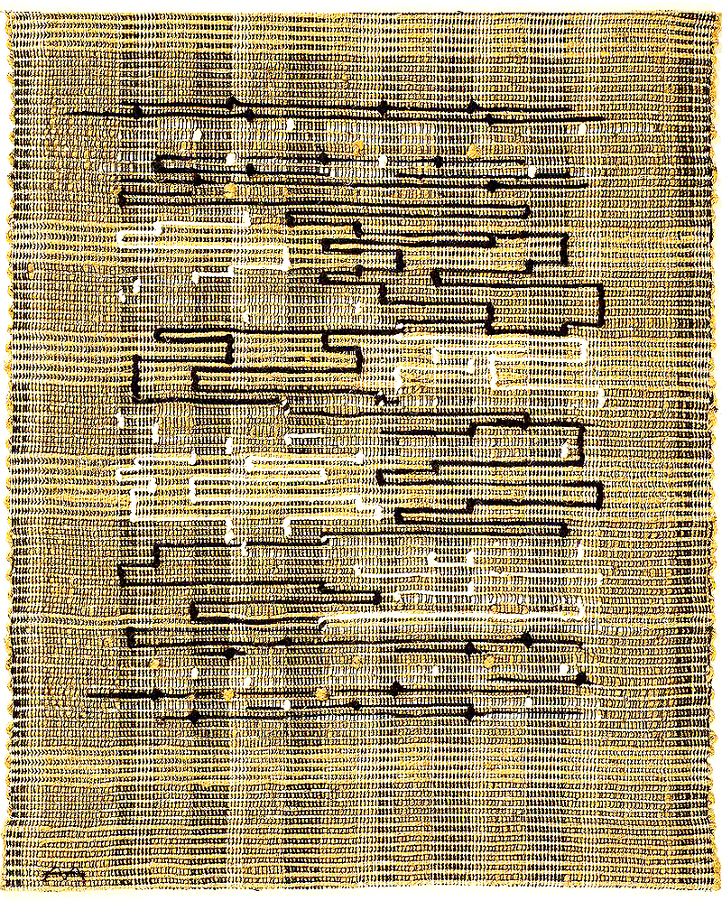 Anni Albers,   Black,-White, Gold 1  (1950)