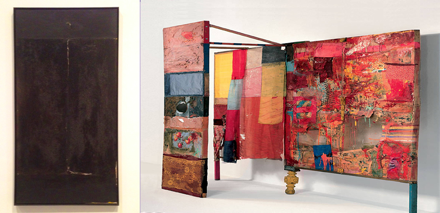 Robert Rauschenberg,  Untitled  (1951) and  Minutiae  (1954)
