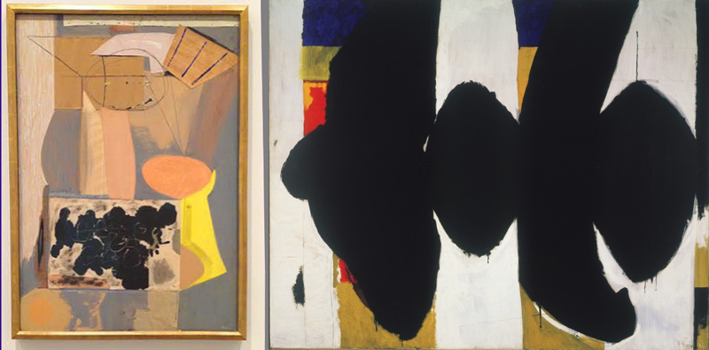 Robert Motherwell,  The Displaced Table  (1943) and  Elegy to the Spanish Republic, No.108  (1965-67)