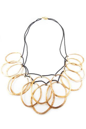 Double Wire Compression Necklace,  copper, $85