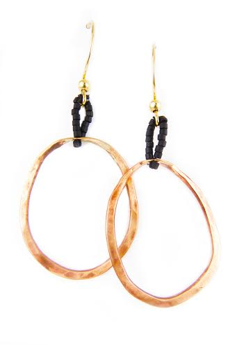 Compression Earrings,  copper, $32