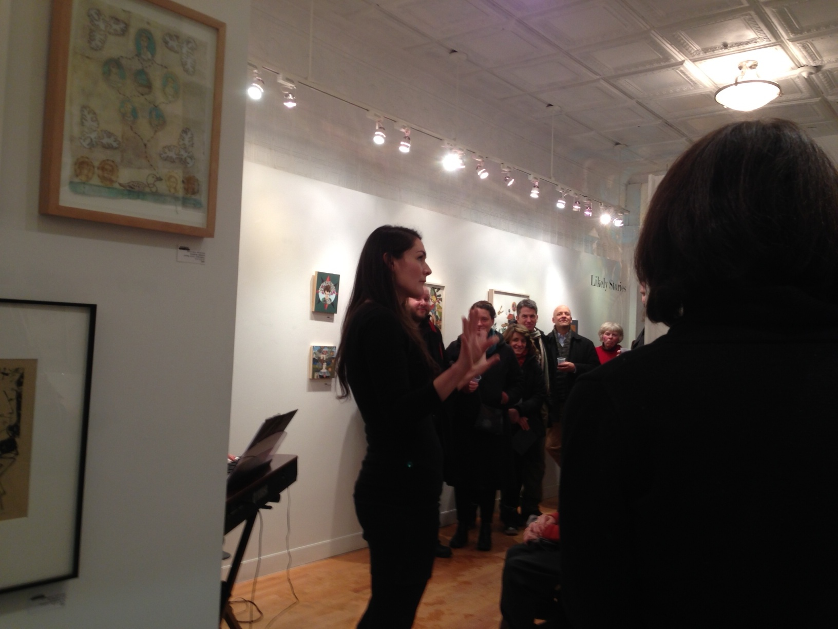 Kathryn during a former OOT performance at 13FOREST Gallery