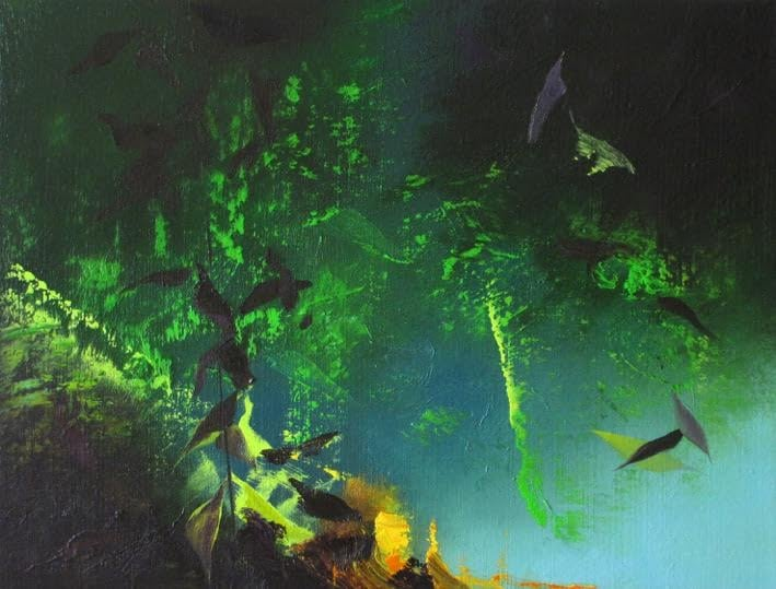 Untitled (Jungle) , Wilhelm Neusser, oil on canvas, $700
