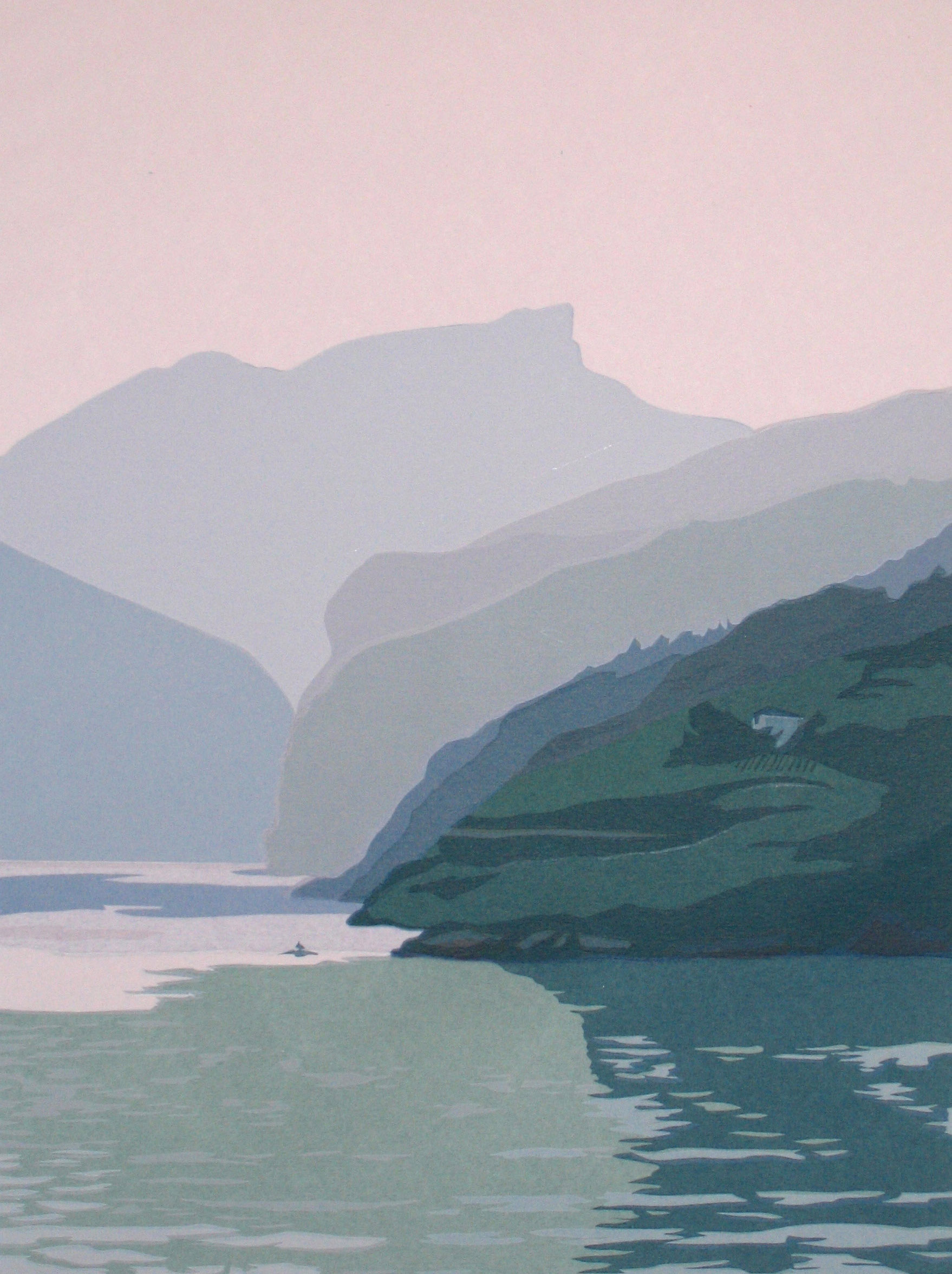 "In China: Misty Morning II   (20/50) , serigraph, 22"" x 15"", $290"