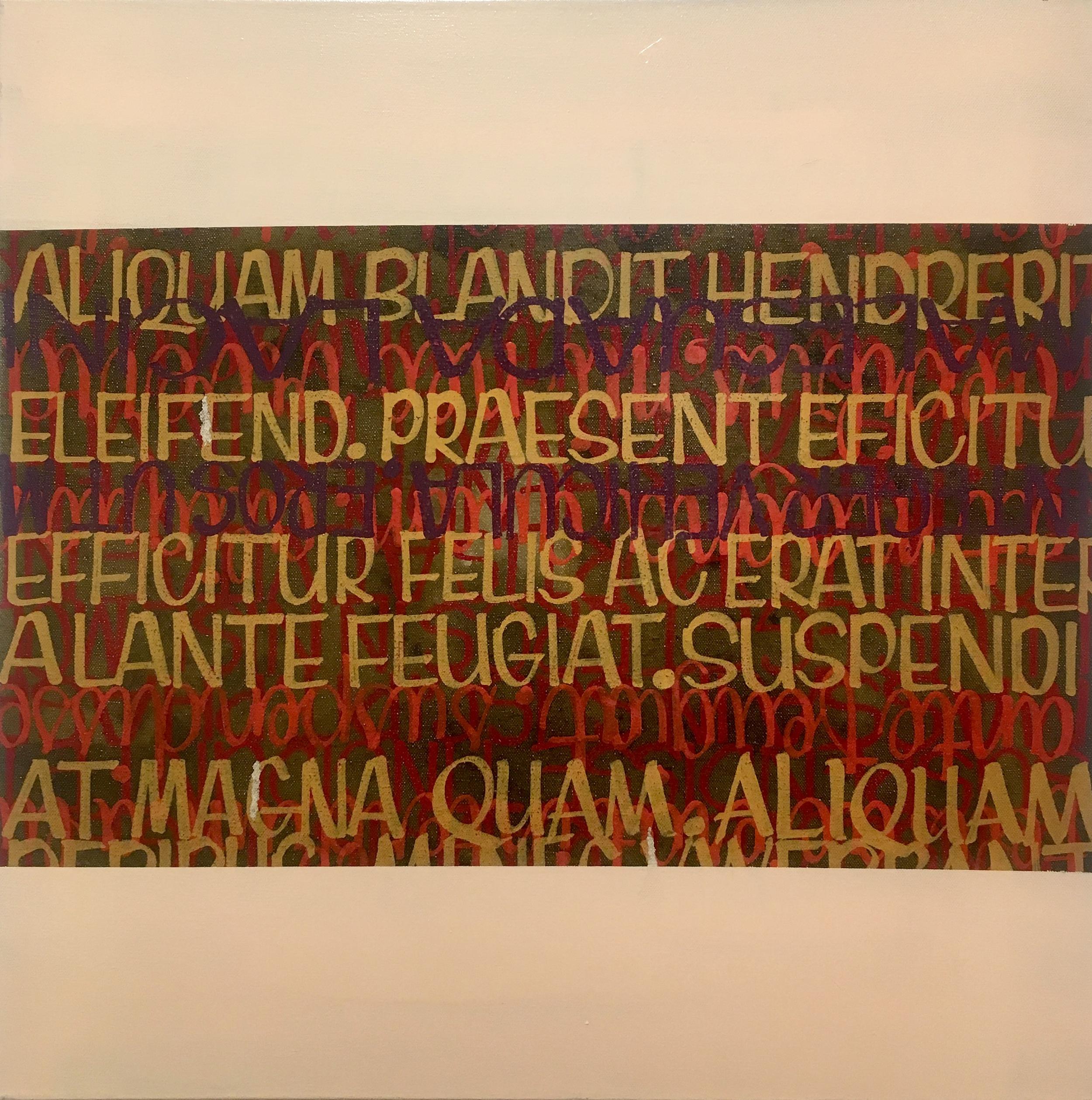 "Kenji Nakayama,  Study in Lines , enamel on canvas, 24"" x 24"", $900"