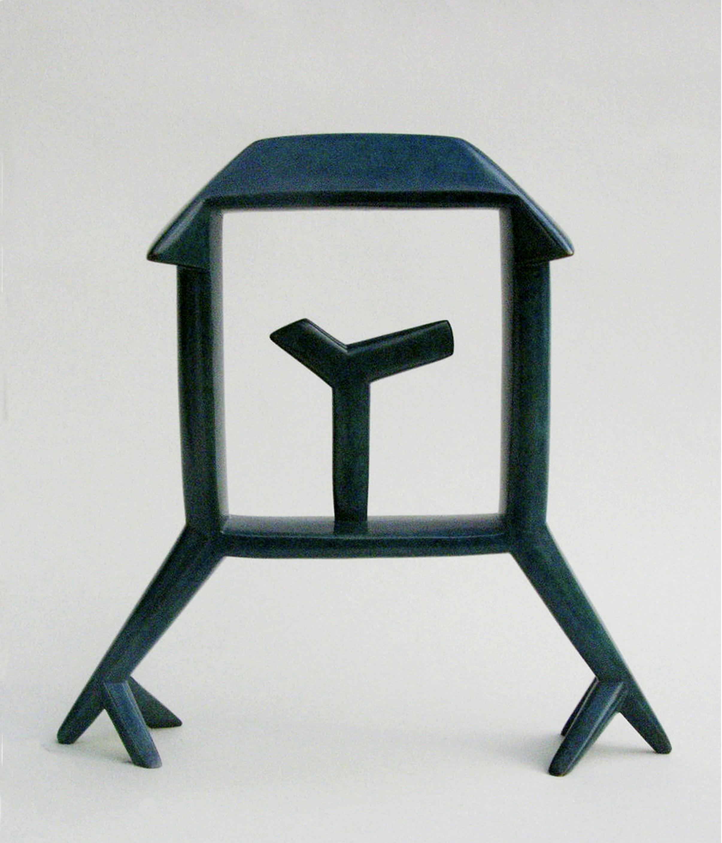"Bird House , 10""x 10""x 2 1/2"", bronze, $1,500"