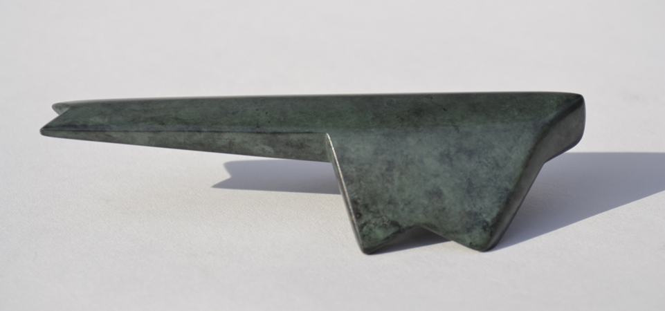 "Standing on the Wind (2/7) , 1 1/2"" x 4 3/4"" x 2"", bronze, $325"