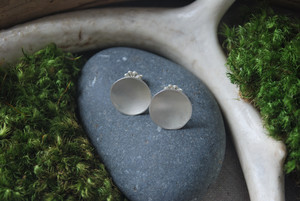 Simple posts  earrings, silver, $58