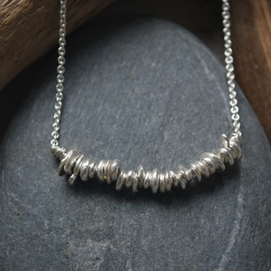 Everyday  necklace, fine silver, $120