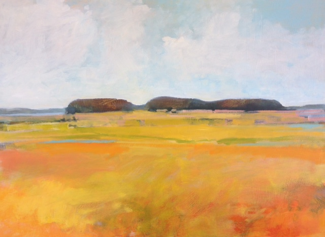 "Heather Pilchard ,  Big Sky at Blackfish Creek,  oil on board, 25 1/4"" x 33 1/2"" framed, $1,850"