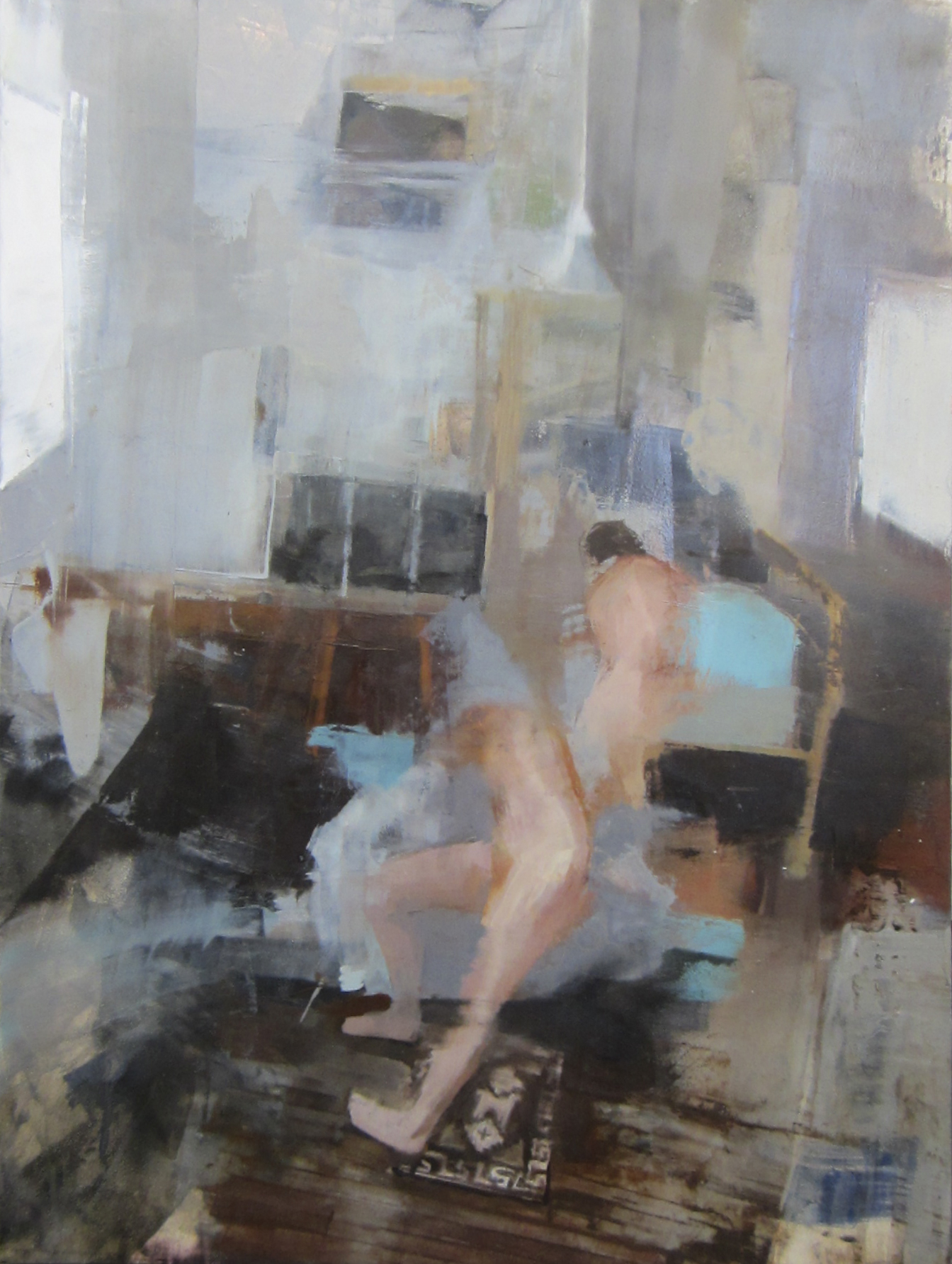 "Linda Anderson,  Incongruence , oil on panel, 16"" x 12"", $525"