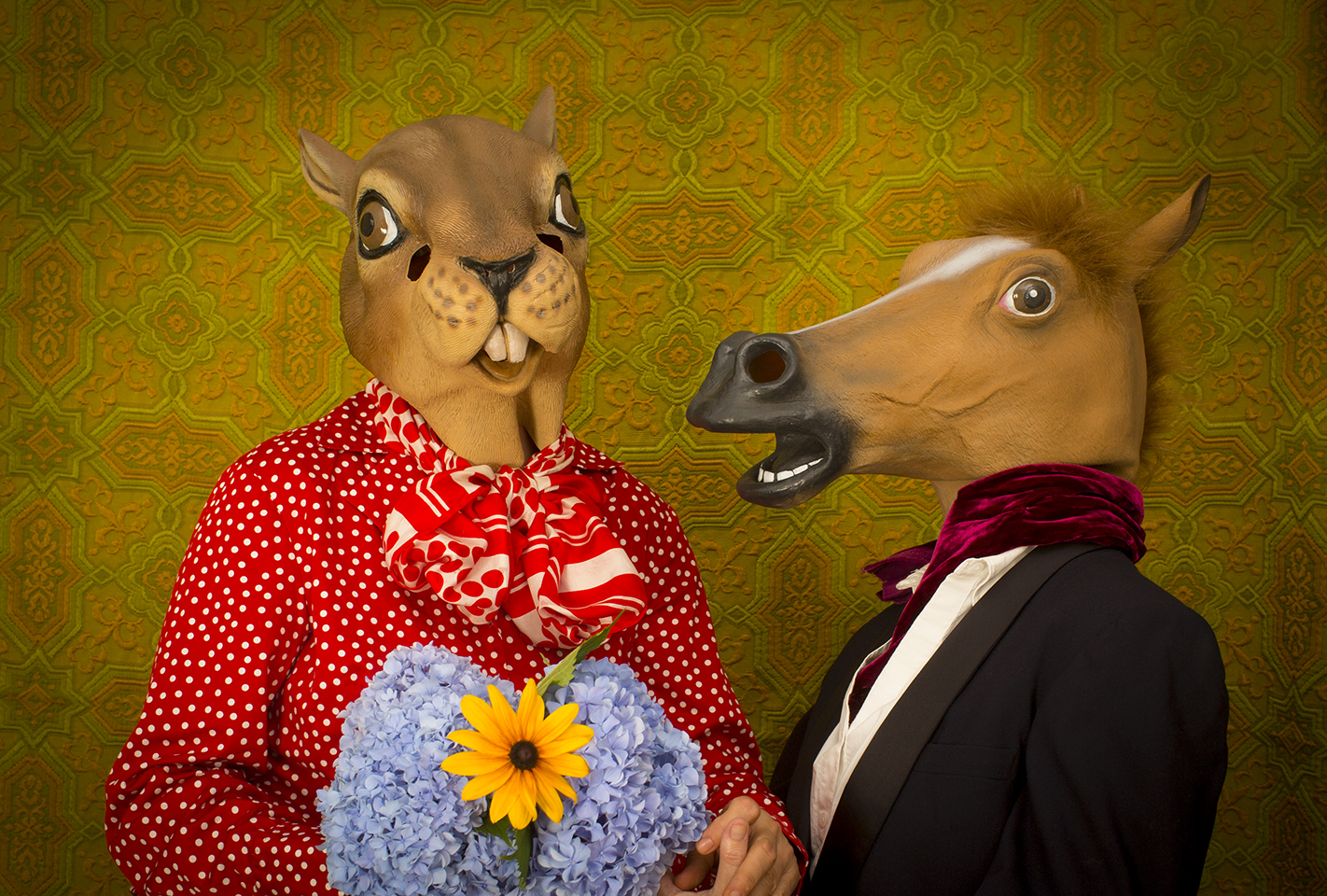 "Horace and Agnes: Love Is Blind , digital archival inkjet print, 13"" x 19"", $285"