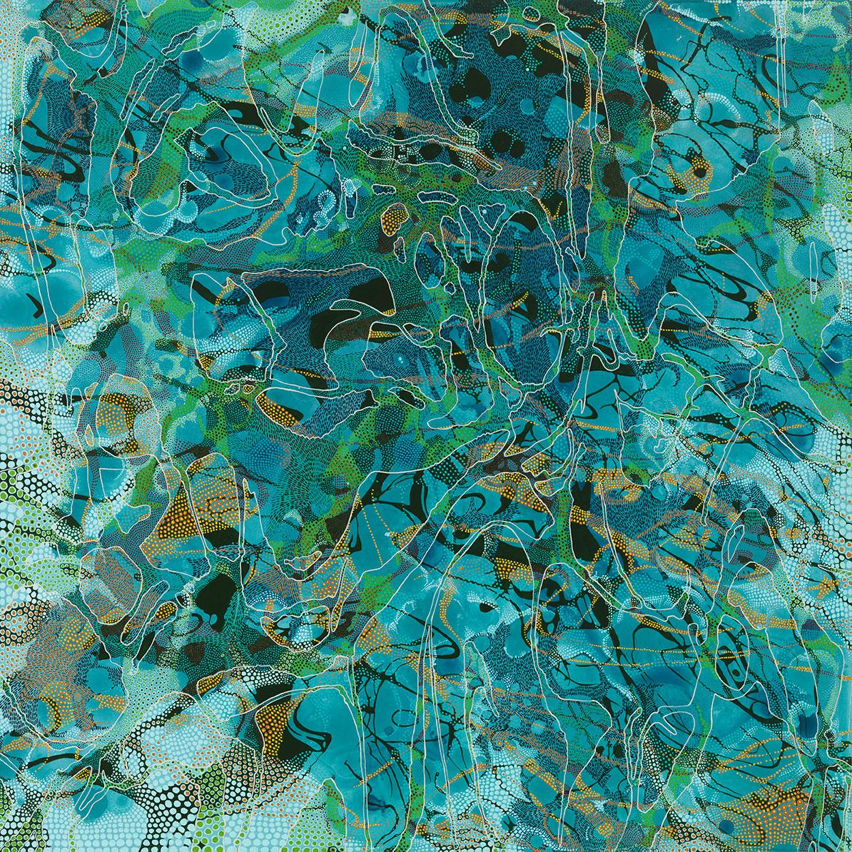 """Resonance  ,    acrylic on panel, 30"""" x 30"""", sold"""