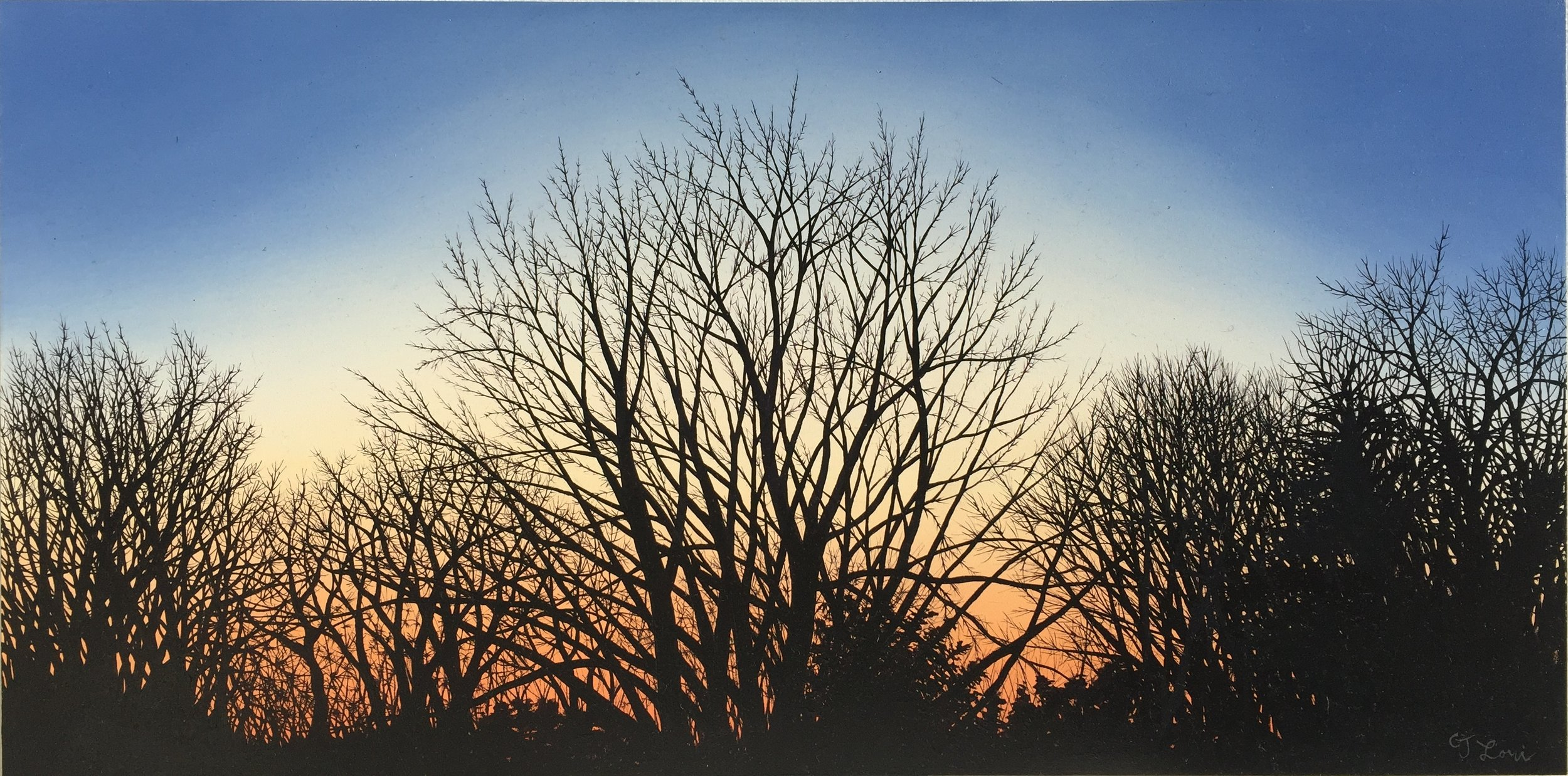 """The Profusion of Winter , oil on panel, 12"""" x 24"""", sold"""