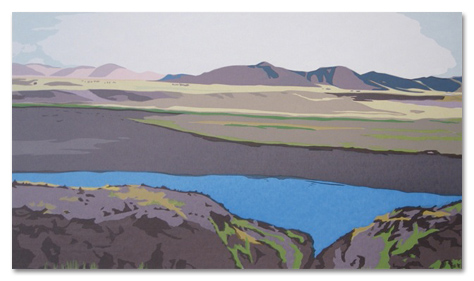 "High in the Andes (36/50) , serigraph on paper, 22"" x 30"", $450"