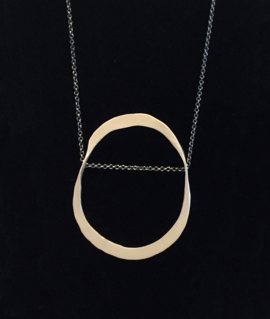 Small Blake necklace , fine silver, $120