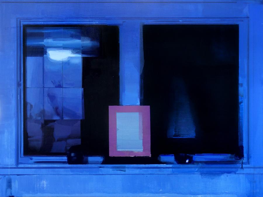 "Altar , oil and pencil on masonite, 22"" x 30"""