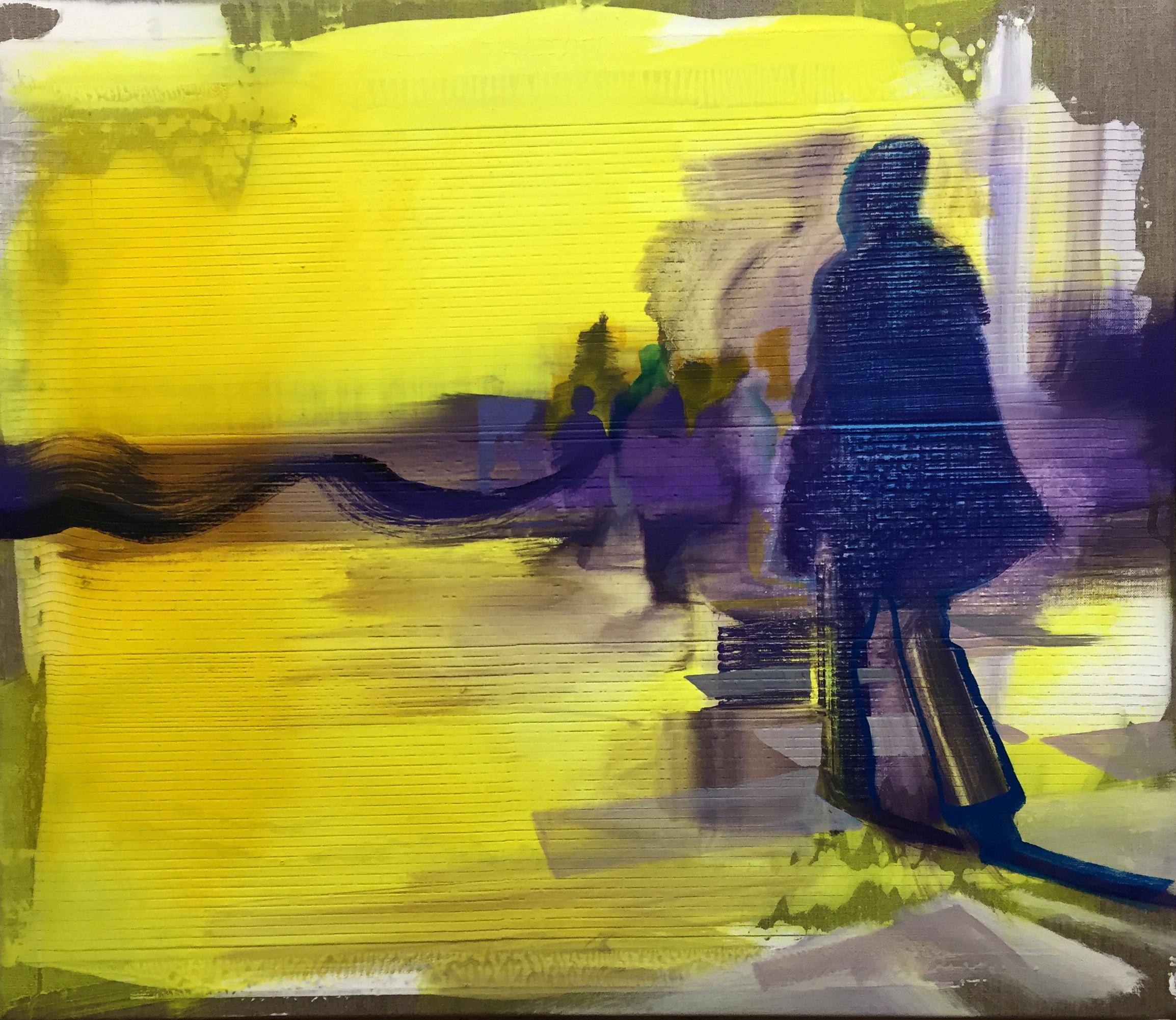 "Andrew Fish ,  The Coast , oil on linen, 26"" x 30"", $2,000"
