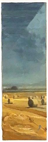 """Wilhelm Neusser ,  Study for Goethe #4 , oil on paper, 25 ½"""" 13 ¾"""" framed, $1,200"""