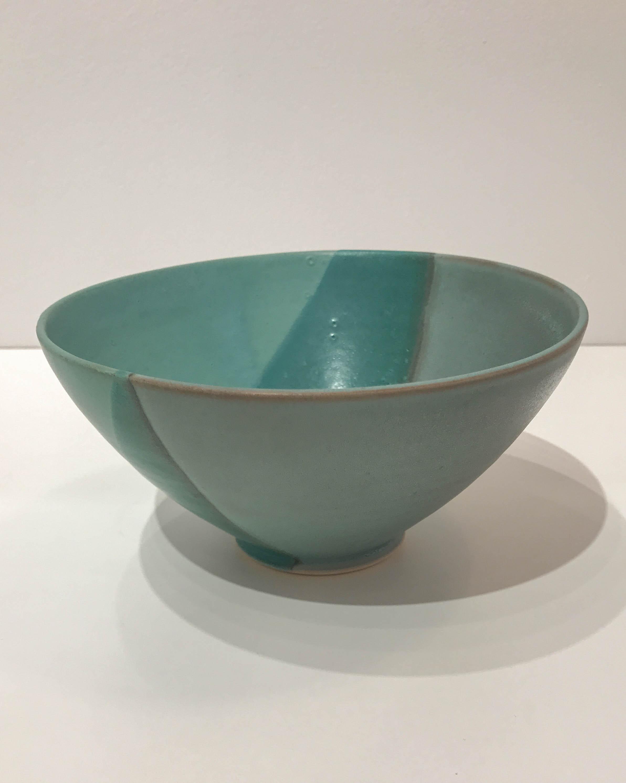Large green bowl, hand-thrown stoneware, $48