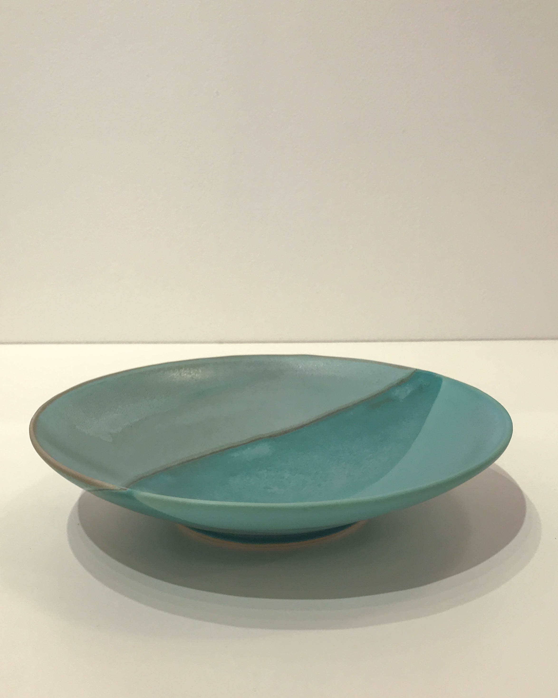 Large green deep plate, hand-thrown stoneware, $48